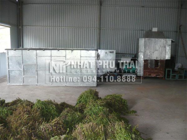 Nhất Phú Thái đã lắp đặt máy sấy cỏ ngọt tại Nam Định