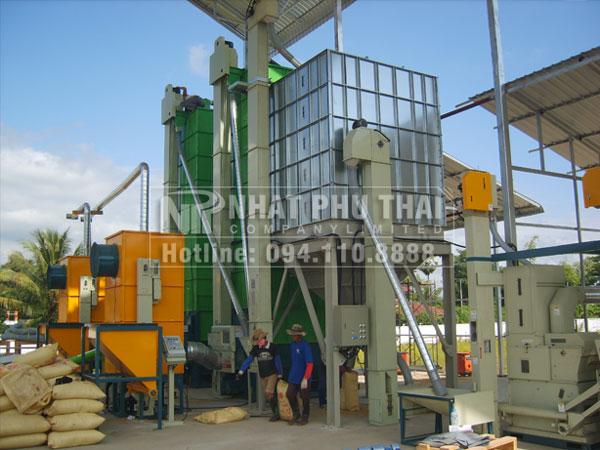 Nhất Phú Thái đã lắp đặt máy sấy lúa tại Long An thành công